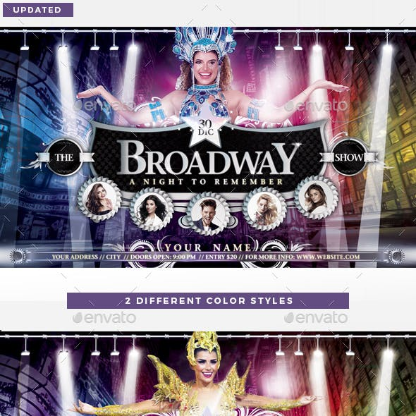 The Broadway Show Flyer Template