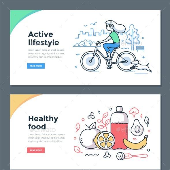 Healthy Habits Color Doodle