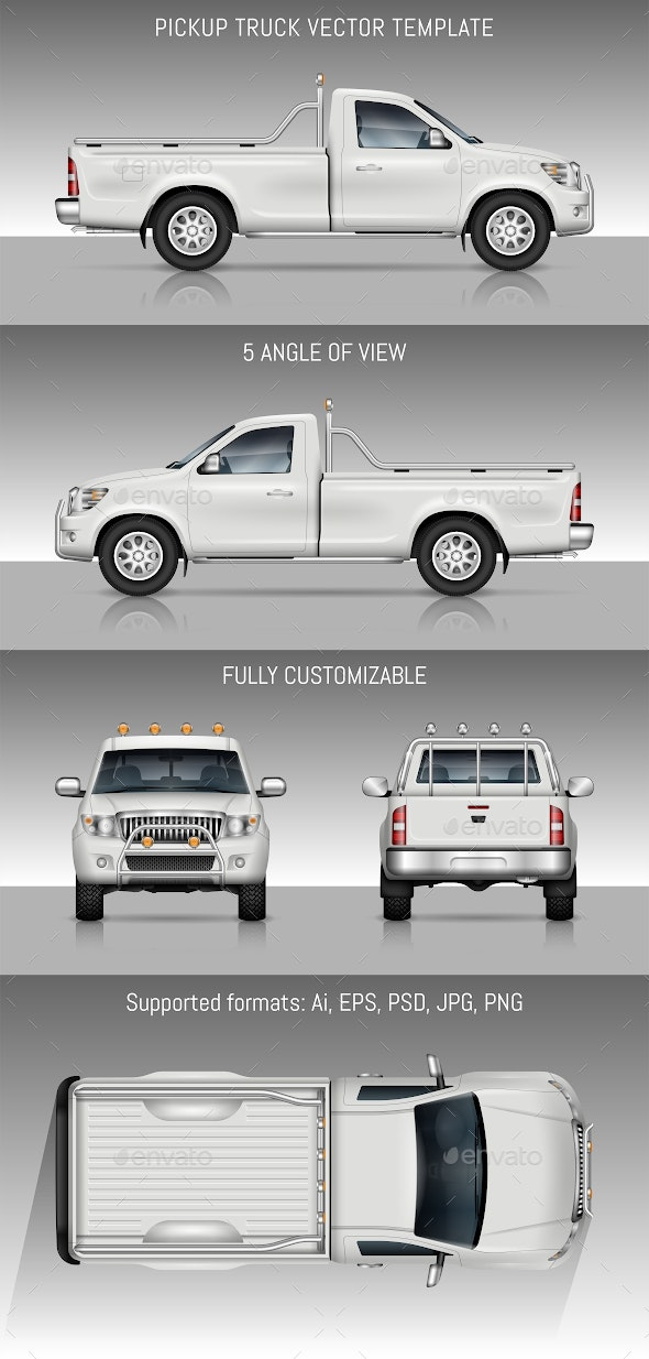 Pickup Truck - Man-made Objects Objects