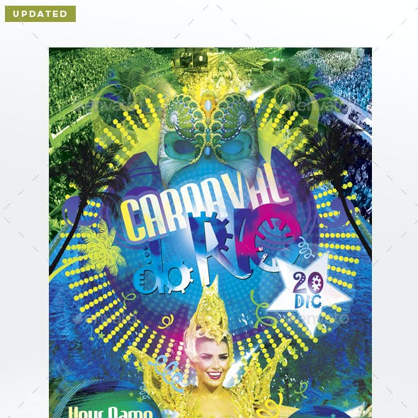 Carnaval Do Rio Flyer Template
