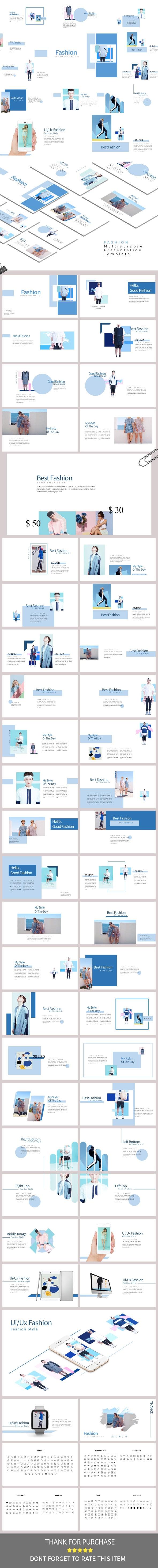 Fashion - Presentation Template - Google Slides Presentation Templates