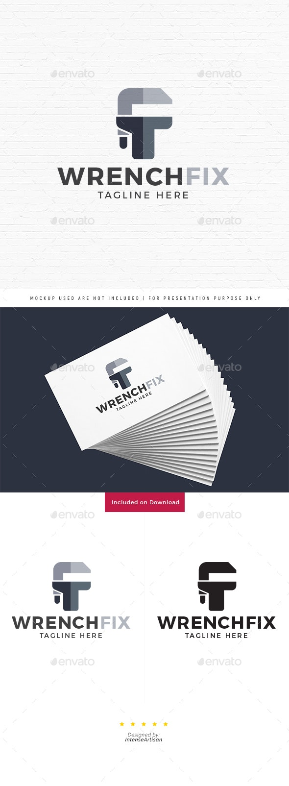 Wrench Fix Logo - Objects Logo Templates