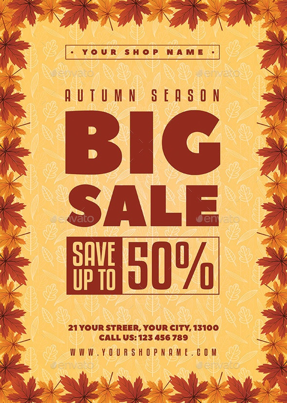 Autumn Sale Flyer - Holidays Events