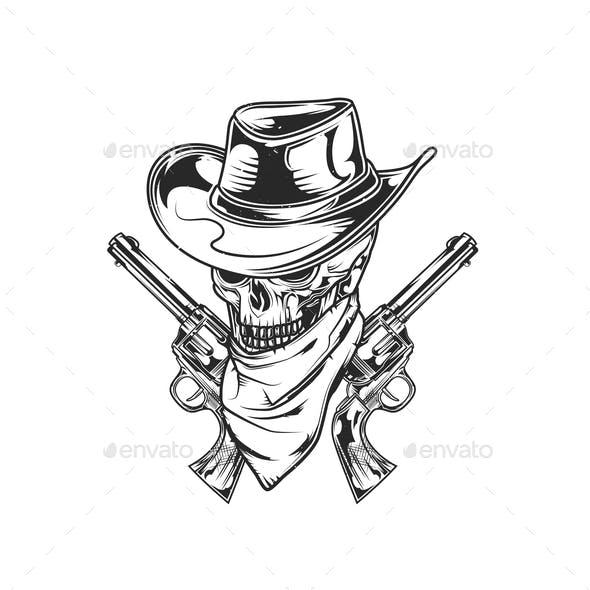 Emblem of Skull and Guns