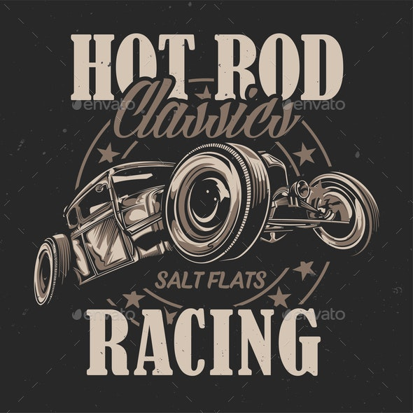 Hot Rod Background - Sports/Activity Conceptual