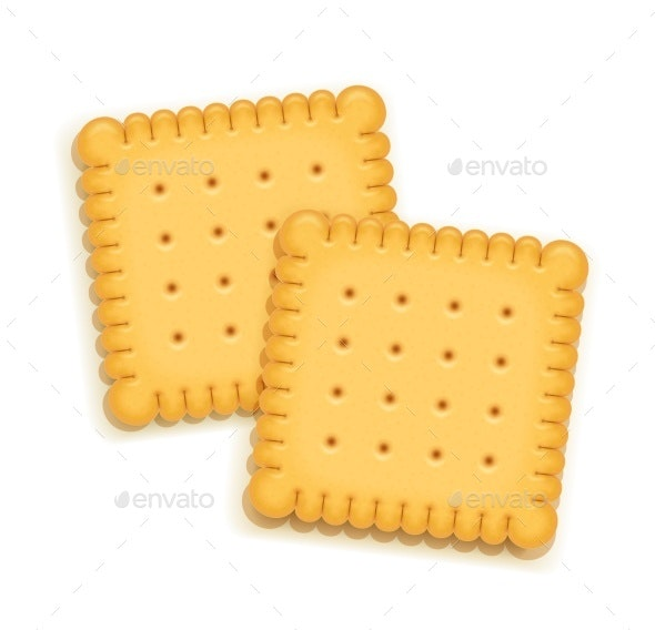 Two Biscuits - Food Objects