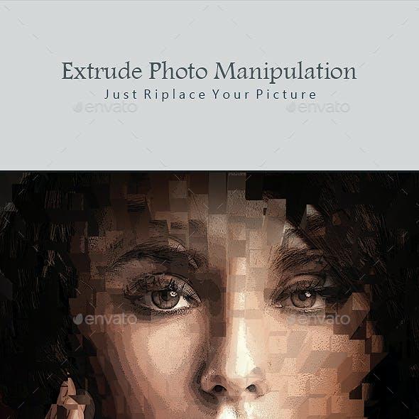 Extrude Photo Manipulation