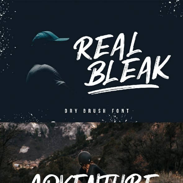 REAL BLEAK - Brush Font