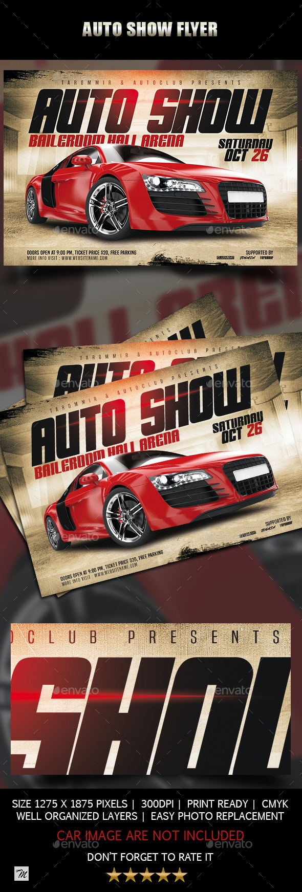 Auto Show Flyer - Events Flyers