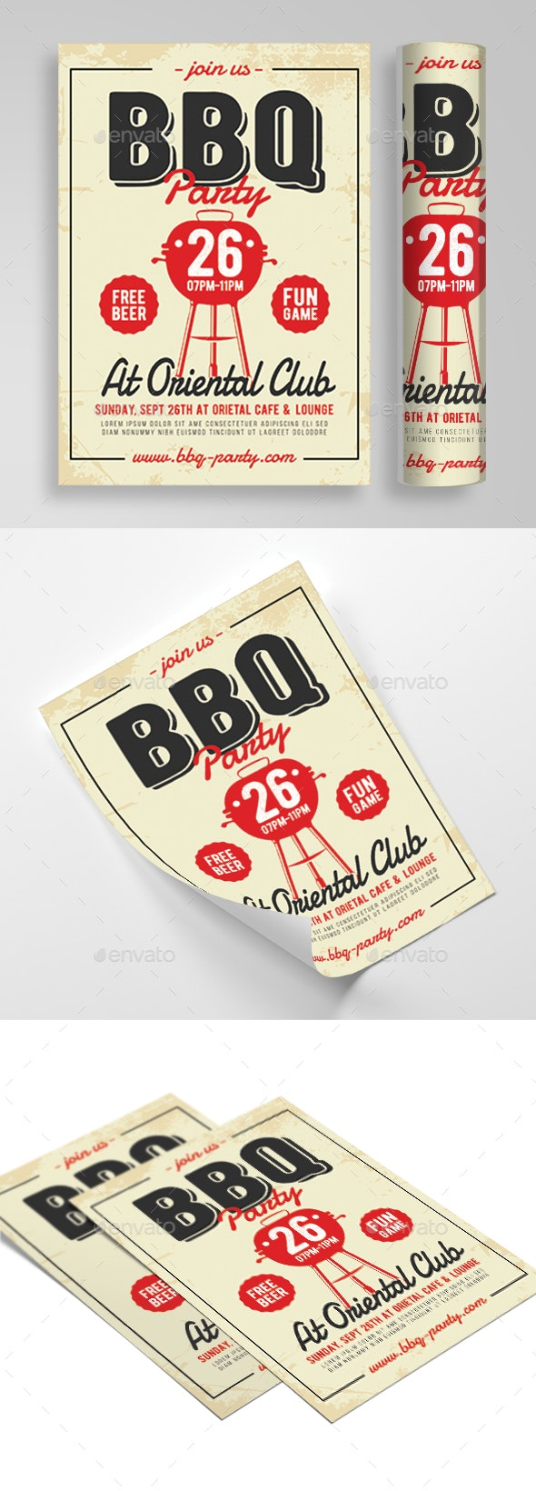 BBQ Party - Flyers Print Templates