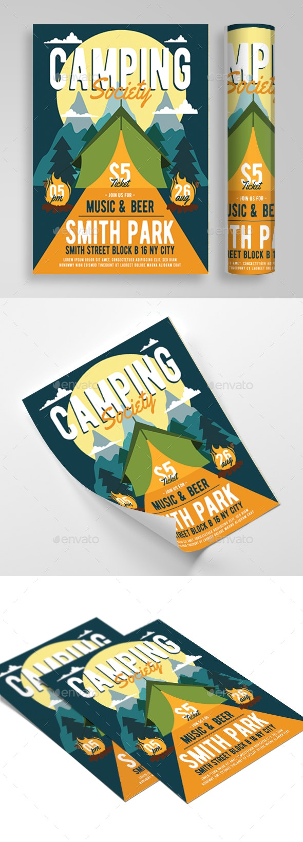 Scout Camp Flyer - Flyers Print Templates