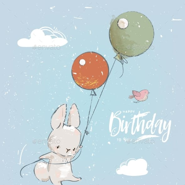 Little Hare with Balloon