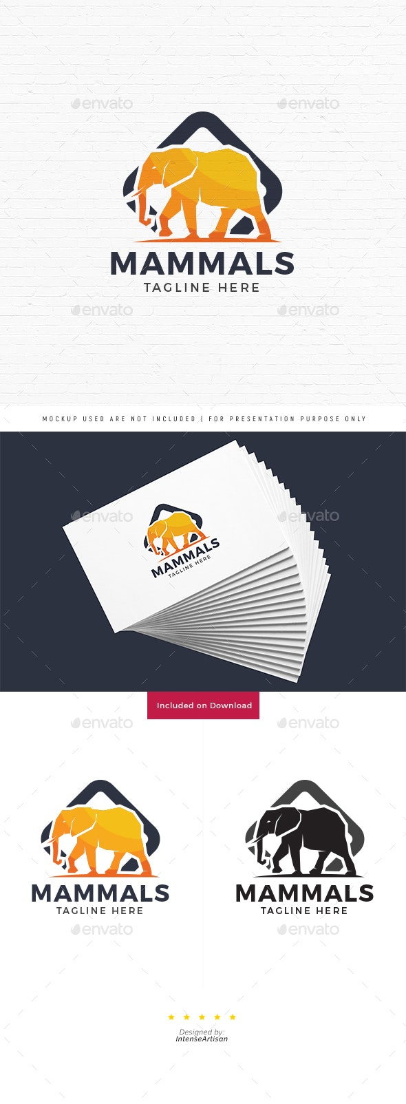 Elephant Logo - Animals Logo Templates