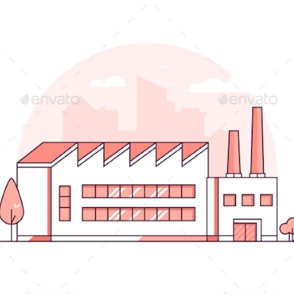 Industrial Building - Modern Thin Line Design