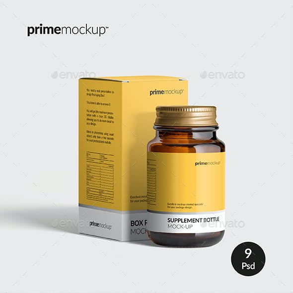 Supplement Bottle & Box Mock-up Vol. 1