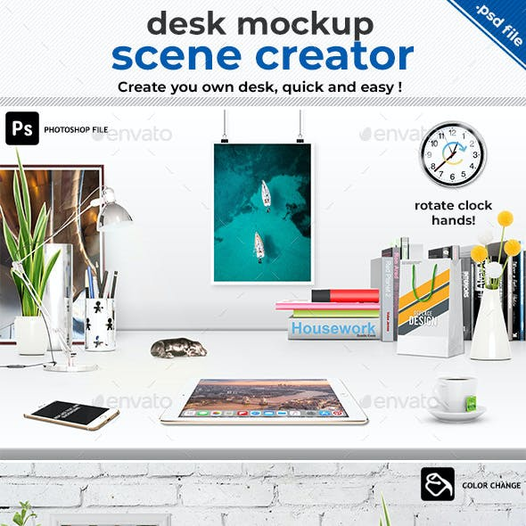 Scene Creator Office Desk Mock-Up