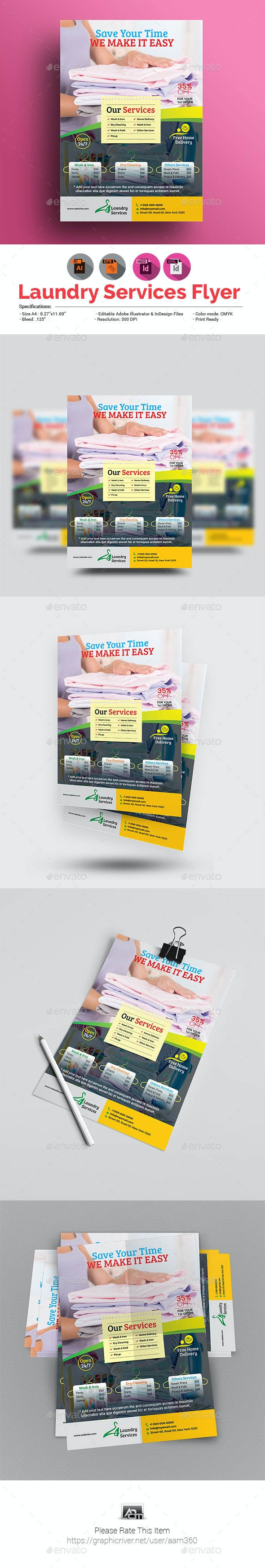 Laundry Flyer Template - Commerce Flyers