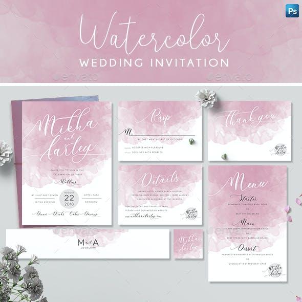 Pink Watercolor Invitation