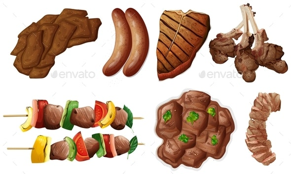 Different Kinds of Meals With Beef - Food Objects