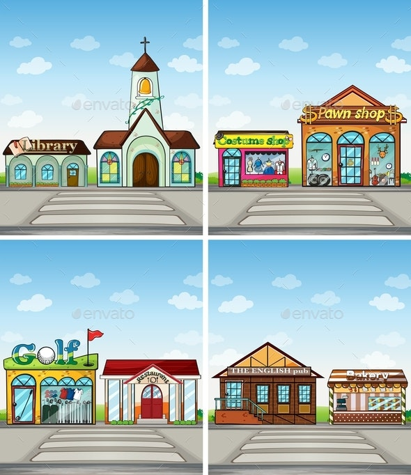 Shops And Places - Buildings Objects