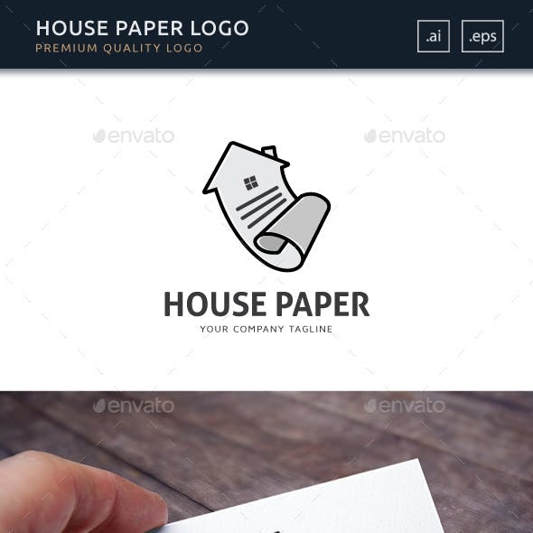 House Paper Logo Template