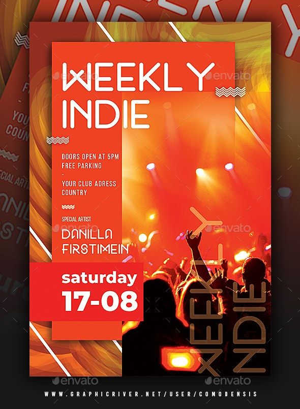 Indie Flyer Template - Clubs & Parties Events