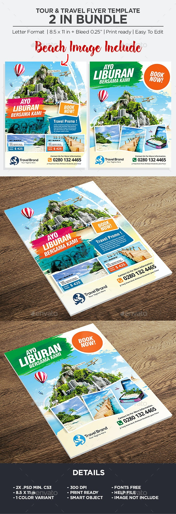 Travel Flyer - Bundle - Holidays Events