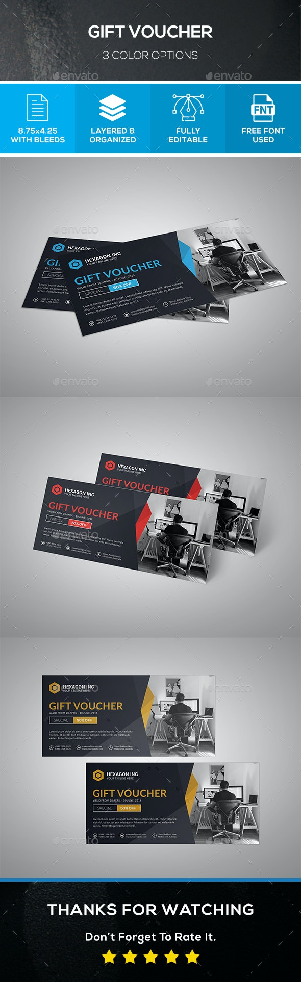 Office Gift Voucher - Cards & Invites Print Templates