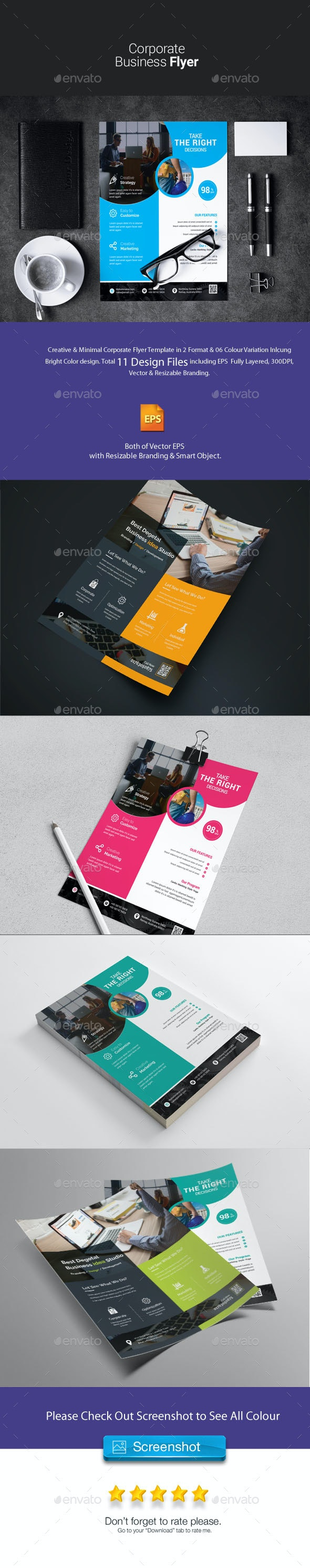 Corporate Flyer bundle 2 in 1 - Corporate Flyers