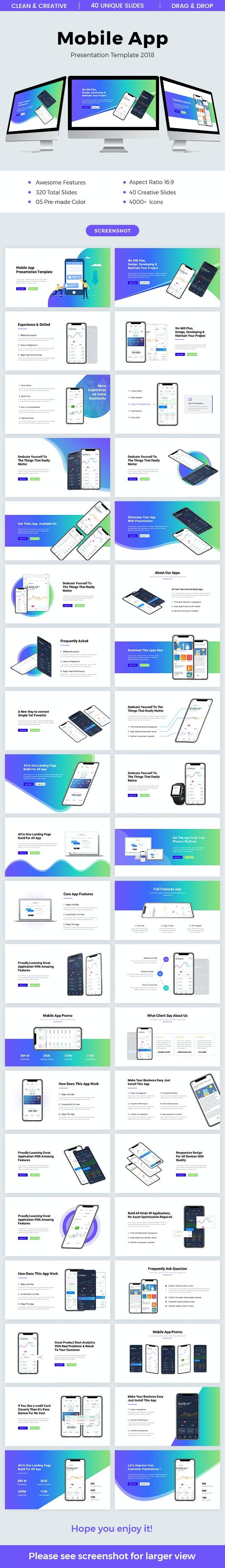 Mobile App Keynote Template - Keynote Templates Presentation Templates