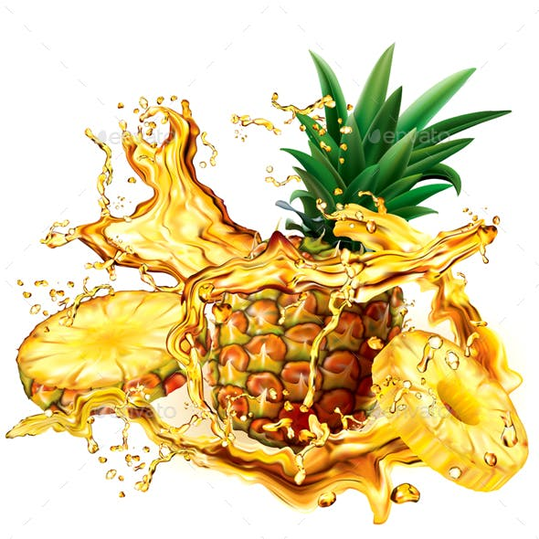 Pineapple into of Splashes Juices