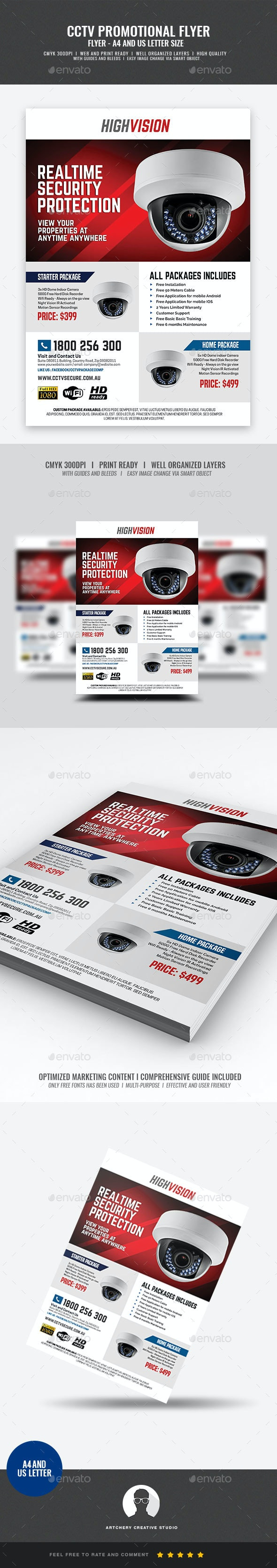 Home and Office CCTV Camera Flyer - Commerce Flyers