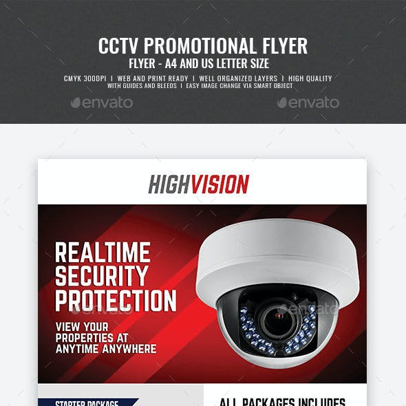 Home and Office CCTV Camera Flyer