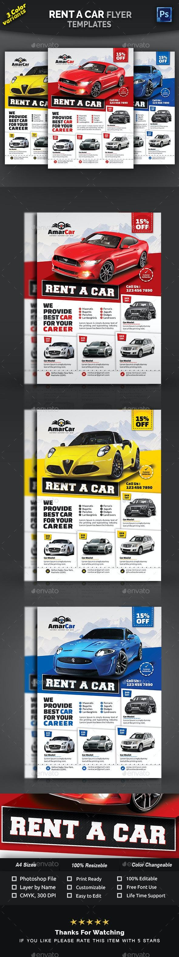 Rent a Car Flyer Templates - Commerce Flyers