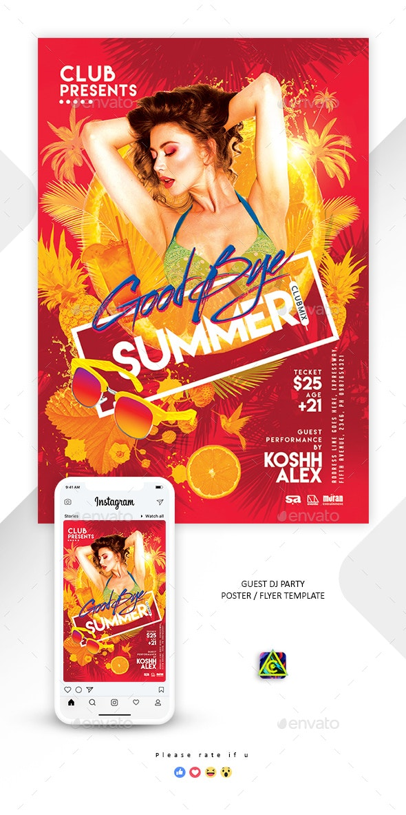 Good Bye Summer Poster / Flyer - Clubs & Parties Events