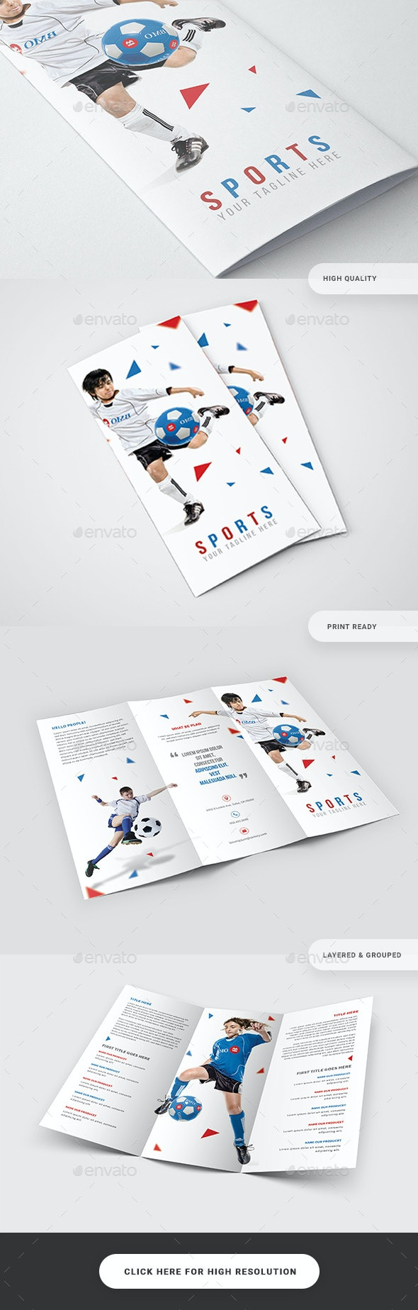Sports Event Trifold Brochure - Catalogs Brochures