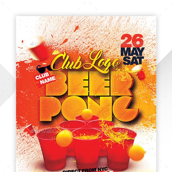 Beer Pong Party Poster / Flyer