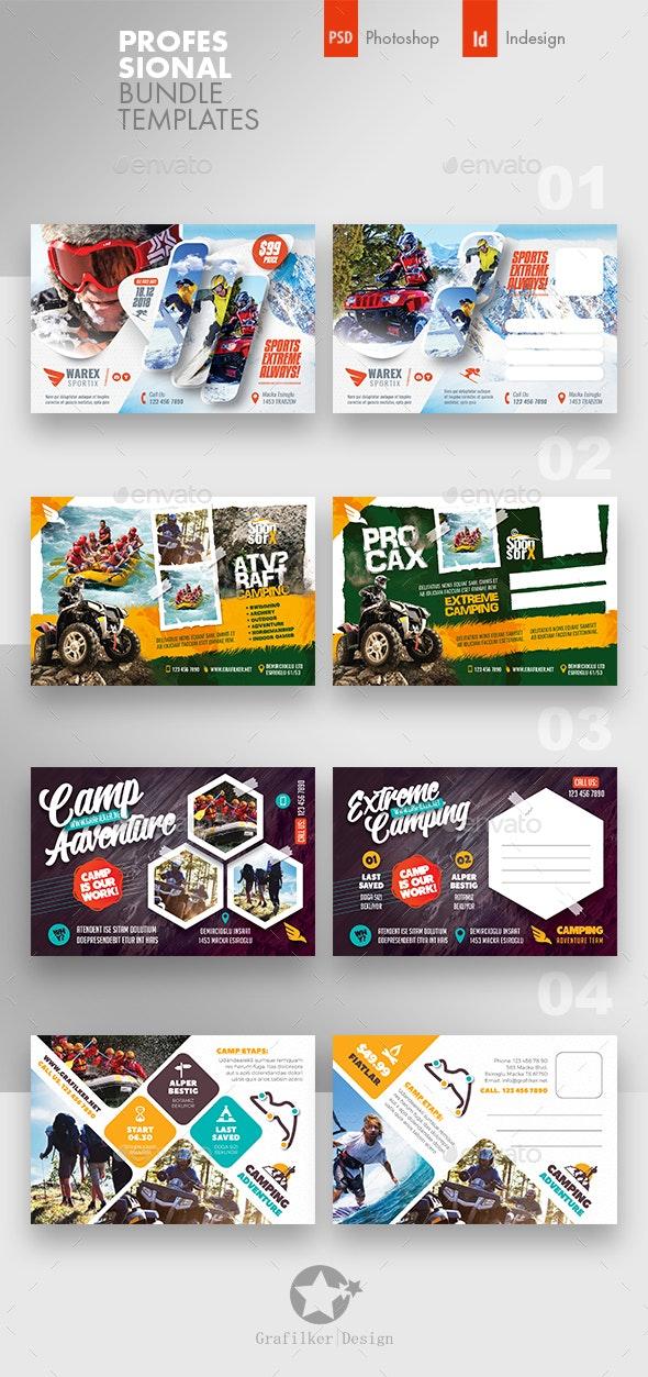 Camping Adventure Flyer Bundle Templates - Cards & Invites Print Templates
