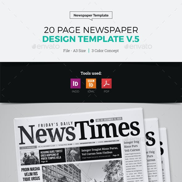 20 Page Newspaper Design v5
