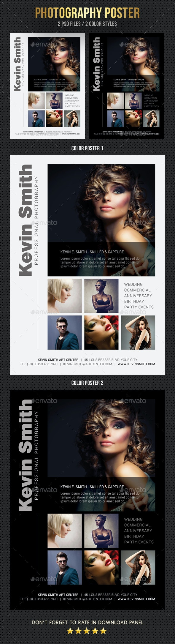 Photography Poster - Signage Print Templates