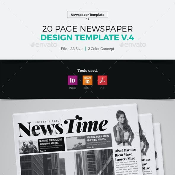 20 Page Newspaper Design v4