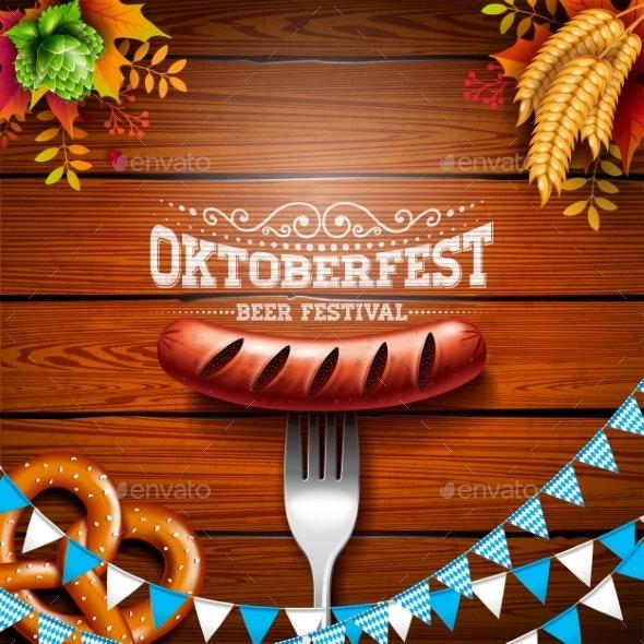 Oktoberfest Banner Illustration with Typography - Miscellaneous Seasons/Holidays