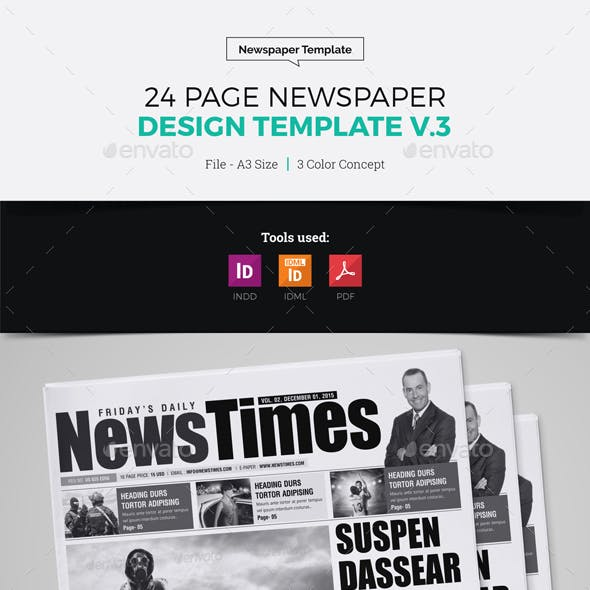 24 Page Newspaper Design v3