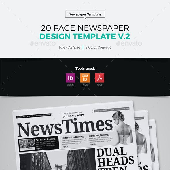 20 Page Newspaper Design v2