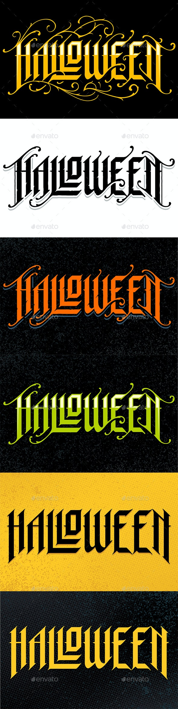 Halloween Gothic Lettering - Halloween Seasons/Holidays