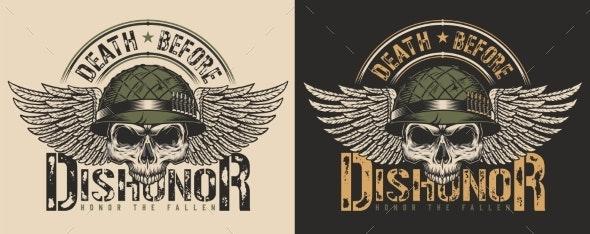 Skull T-Shirt Print Concept - Miscellaneous Vectors