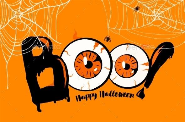Happy Halloween Banner Background - Halloween Seasons/Holidays