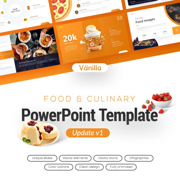 Vanilla Food and Culinary PowerPoint Template - PowerPoint Templates Presentation Templates