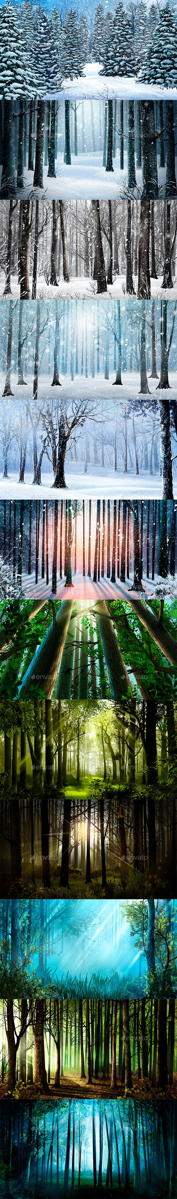 Forest Background - 3D Backgrounds