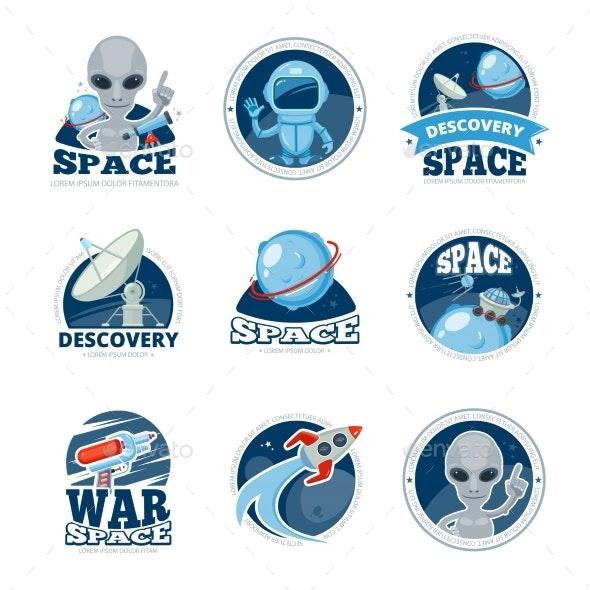Space Labels Collection - Miscellaneous Vectors
